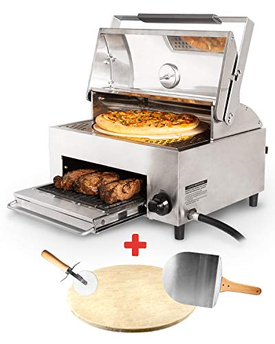 CAPT'N COOK Ovenplus Salamander Grill - All in One Portable Gas Grill, Oven, and Stove with Pizza...