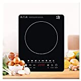 EULANGDE Touch Controls for Induction Cooker 110V Electric Stove 2200W Portable Induction Cooktop Countertop Burner, Black