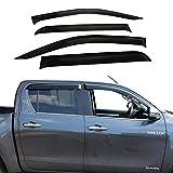 JHCHAN Deflectores de viento para Toyota Hilux Reco 2015-2020