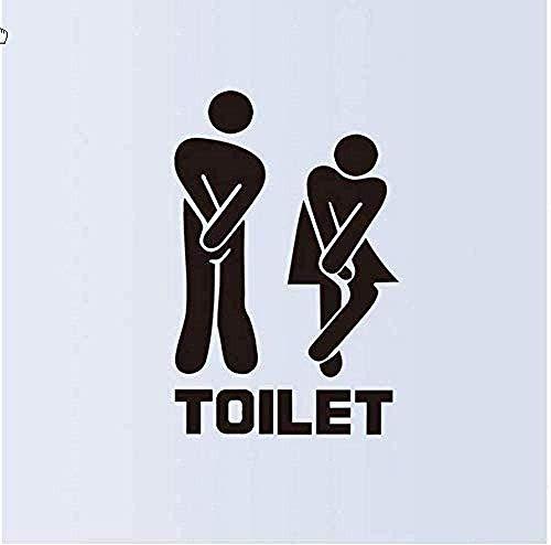 Muurstickers muurschilderingen Verwijderbare Toilet Man Vrouw Wastafel Toilet Gebaren Toilet DIY WC-deur 13X18cm