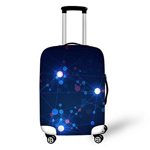 Elastic Luggage Cover, CNNINHAO 3D Print Trolley Case Protective Travel Suitcase Anti Scratch Dustproof Resistant Case Trolley Skin Protector Elasticized Washable (3,S (18-20inch))