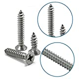 Luchang M1 M1.2 M1.4 M1.7 M2 Stainless Steel Standoff Phillips Countersunk Head Self-Tapping Wood Small Laptop Screw Micro Screw (M1 500Pcs,3mm)