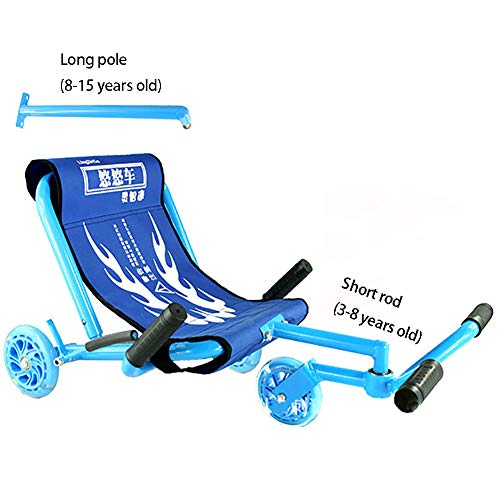 CHB Longue Voiture Swing Voiture Yo Voiture Twist Voiture Poussette Pied étape Voiture Scooter bébé Jouet en Plein air Voiture avec la lumière pour Les différents âges,Blue