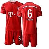 JEEG 20/21 Herren Thiago 6# Fußball Trikot Fans Jersey Trainings Trikots (L)