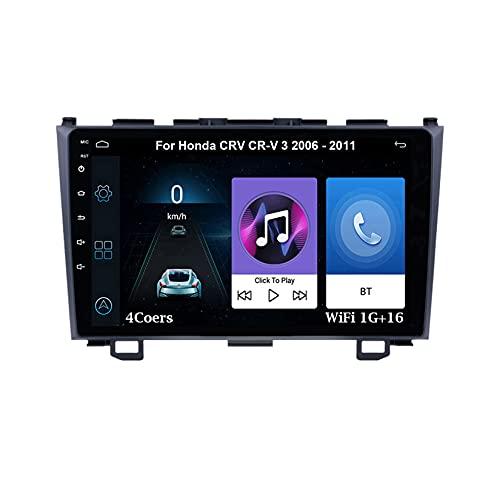 Autoradio GPS Navigazione Music 9 Pollici HD Touch Multimedia Per Honda CRV CR-V 3 2006-2011 Collega E Usa Navigatore Con Telecamera Per Retromarcia Chiamate in Vivavoce SWC
