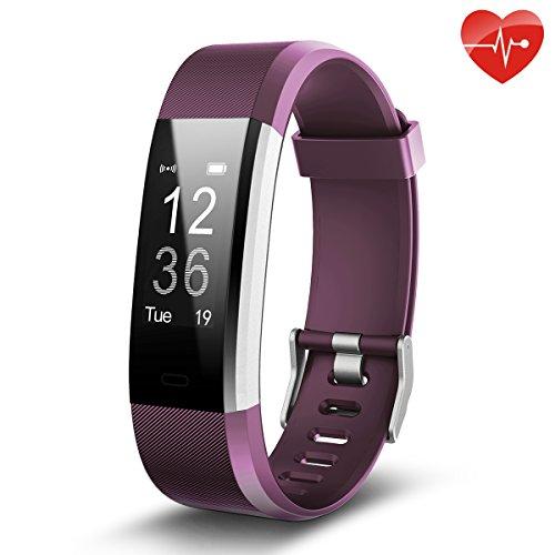 juboury Fitness Tracker, Smart Bracelet mit Pulsmesser Herzfrequenzmesser,Aktivitätstracker,Schrittzähler,SchlafMonitor,Kalorienzähler Fitness Uhr für Android und IOS Smartphones(Violett)