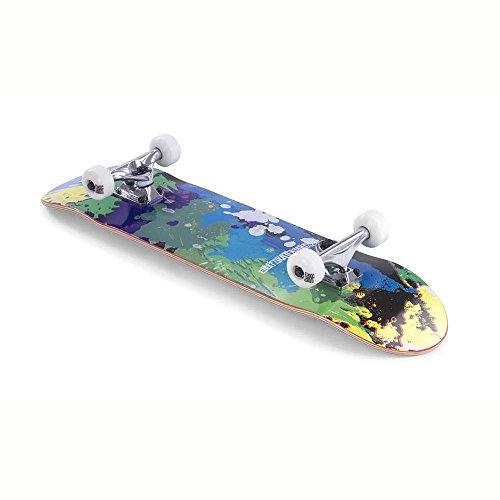 Enuff Splat Skateboard, unisex, da adulto, Unisex - Adulto, ENU2300_Única_Verde / Azul, Verde / Blu, Taglia unica