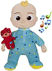 CoComelon Musical Bedtime JJ Doll, with a Soft, Plush Tummy and Roto Head – Press Tummy and JJ sings