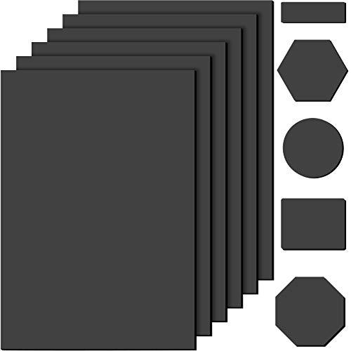 6 Piezas Almohadillas Antideslizantes Autoadhesivas de Goma Agarraderas Negras para Muebles Protectores de Muebles y Suelos para Bloqueador Protección de Muebles, 6 x 4 Pulgadas