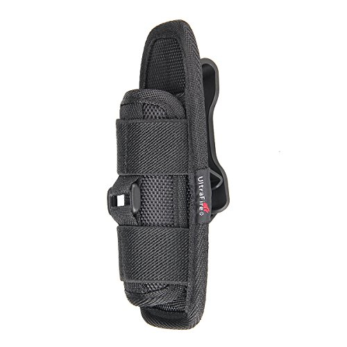 Flashlight Holster for Tactical Torch, UltraFire Duty Belt Flashlight Holder Nylon Pouch Case with 360 Degrees Rotatable Clip Long Type
