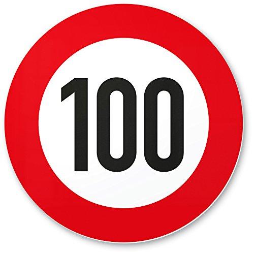 DankeDir! 100 Geburtstag Verkehrsschild - Kunststoff Schild, Geschenk 100. Geburtstag, Geschenkidee Geburtstagsgeschenk Hundertsten, Geburtstagsdeko/Partydeko/Party Zubehör/Geburtstagskarte