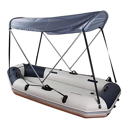 Jopwkuin Barco Inflable Sun Shelter Aleación de Aluminio o Kit Superior de toldo de fácil Transporte y Almacenamiento