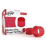 Griply Rubber Finger Tips | Hand Grips | Rubber Tip Finger Protector | Finger Pads (Large)...