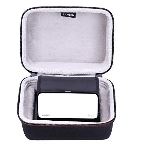 LTGEM EVA Hard Case for Omron Evolv Bluetooth Wireless Upper Arm Blood Pressure Monitor - Travel Protective Carrying Storage Bag
