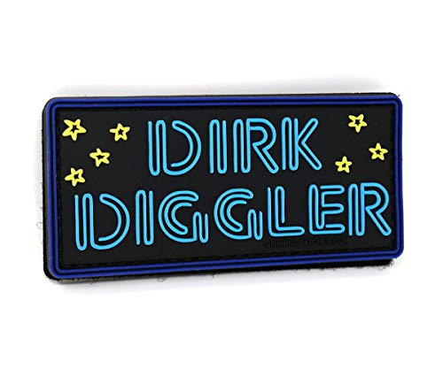 Dirk Diggler Neon Sign PVC Morale Patch - Boogie Nights Inspired