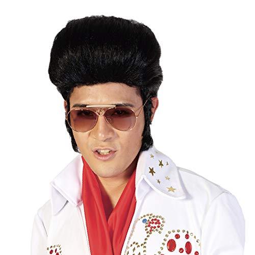 Black Cosplay Elvis Presley Wigs for Men-50s Costume Party Halloween...