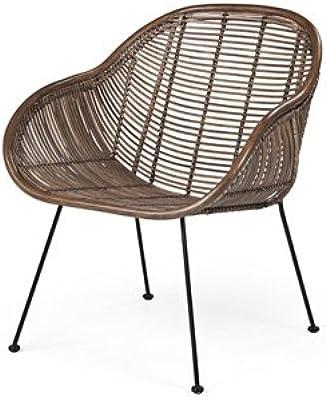 BestOnlineDeals01 BUSKBO Sill/ón de rat/án Sillones y chaise longues Respetuoso con el medio ambiente. Muebles 42 x 72 x 63 cm Sof/ás y sillones duradero y f/ácil de cuidar Sillones de rat/án