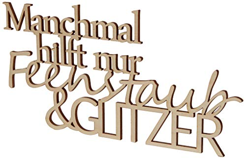 Rayher 46425505 Holzschrift, Natur, 24 x 12.2 cm