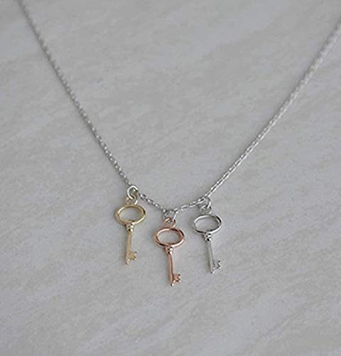 JSYHXYK Halskette Halskette Fresh Ruili Simple Wild Lady 3 Farbschlüssel Halskette Trend Schmuck