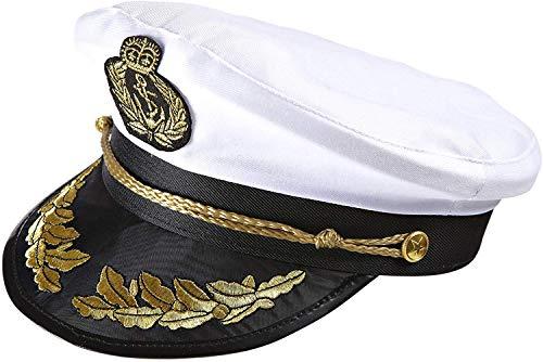 Widmann 0186S - Luxushut Kapitän, Mütze Captain, Seemann, Matrose, Mottoparty, Karneval