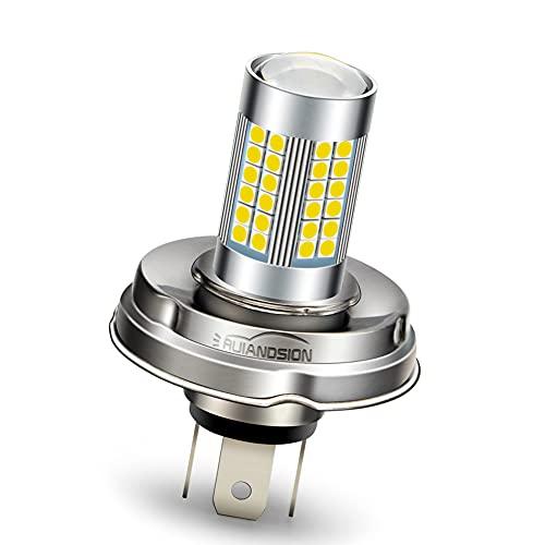 Ruiandsion 1 pz P45T LED Lampadina 6V Lampadina LED 3030 66SMD bianco super luminoso per faro moto