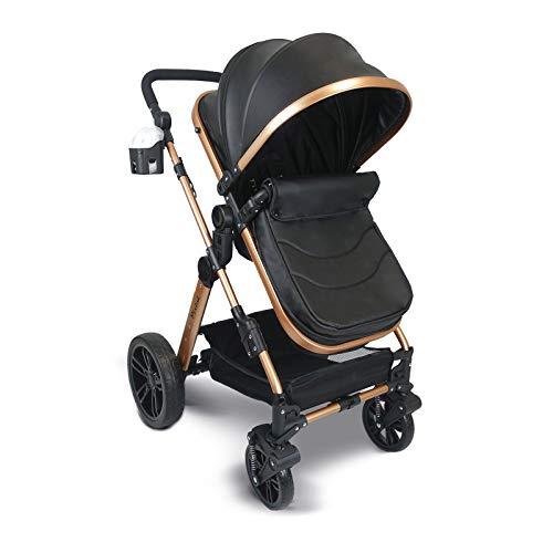 Babywanne /& Buggy /& Auto-Babyschale Wickeltasche//Regenplane//Getr/änkehalter//M/ückennetz in gelb//schwarz Pixini Kalani Kinderwagen 3 in 1 Komplettset inkl