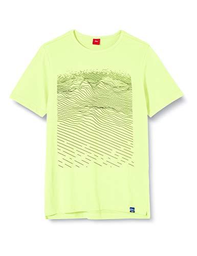 s.Oliver Junior Jungen 402.10.002.12.130.2022067 T-Shirt, Gelb (0071 Neon Yellow), XL/REG