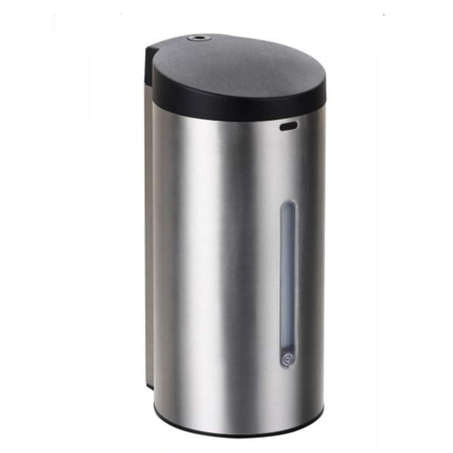 有効な虚偽大声で電池式 オートソープディスペンサー 赤外線センサーポンプソープディスペンサーステンレス 漏れ防止7段調整可 自動 ハンドソープ ータッチ 650ML 9Vバッテリー(6ノット* 1.5V)