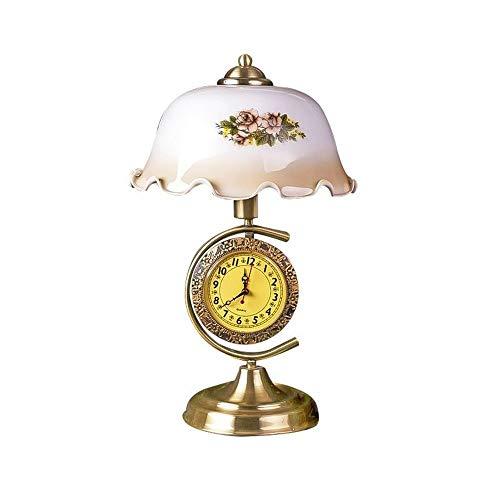 QXinjinxtd Lámparas para Habitaciones Lámpara Retro Reloj De Escritorio, De Forma Creativa, Nocturna Escritorio Accesorios de Dormitorio