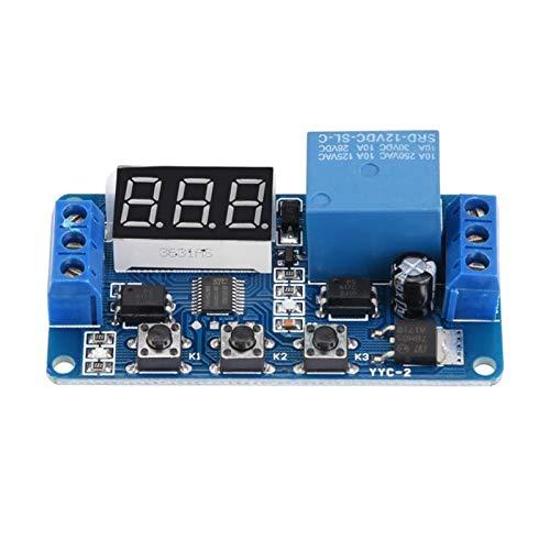 QIANSDZSW Relé Módulo de Interruptor de Control de automatización del Temporizador Ajustable YYC-2 LED Módulo 5/6/12 / 24V (Size : 5V)