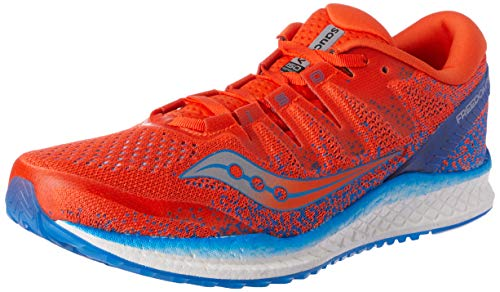 Saucony Freedom ISO 2, Zapatillas de Running para Hombre, Naranja (Orange/Blue 36), 44.5 EU