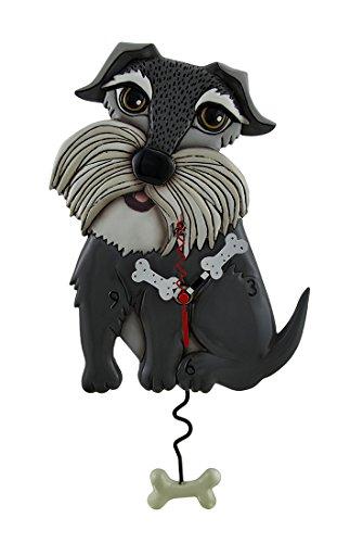 Relojes de pared de resina Lucy perro Allen Designs Whimsical reloj de pared con péndulo en forma de hueso de perro 7,5x 14x 1,5cm gris modelo # P1656