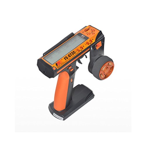 Flysky FS-GT3C AFHDS 2.4GHz 3CH Radio 3Channel LCD Transmitter+ FS-GR3E Receiver (Orange)