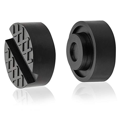 Jack Pads Universal Trolley Floor Rubber Jack Disk Pad Adapter Rubber for Pinch Weld Side(2-Pack)
