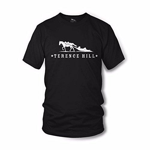 Terence Hill Official T-Shirt Logo (Schwarz) (XL)