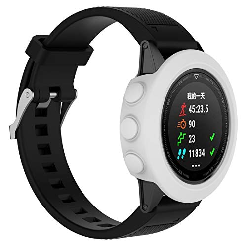 Funda de silicona universal tipo Smart Watch, no incluye para Garmin Fenix 5 (color blanco).