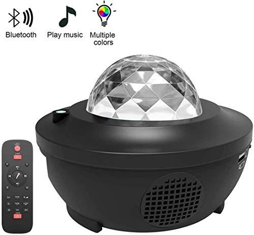 WGZ- Bühnenlampe Sternenhimmel Projektor-Nachtlicht, 2 in 1 Sternenhimmel-Nachtlicht-Lampe mit Musik-Lautsprecher-Timer for Fernbedienung Farbwechsel