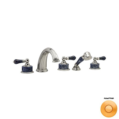 Sale!! Phylrich K2272P1_024 - Regent Deck Mounted Tub Set W/Hand Shower, Bleu Sodalite Handle