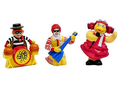 マクドナルド たのしいマックバンド キャラクター アクションフィギュア 3点セット 1993年 ミールトイ ハッピーセット McDonald's