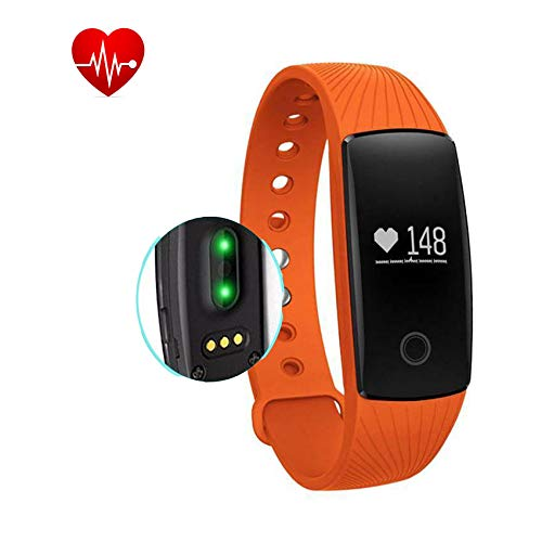OMNiX™ ID107HR Heart Rate Monitor, Bluetooth Smart Band Heart rate monitor,Step pedometer,Calorie burnt,Distance track,Sleep monitor,Call remind(caller name/caller ID),Alarm remind,Anti-lost,Camera remote control,etc.