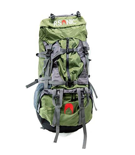 RSonic H2O - Zaino da escursionismo da viaggio, 60 litri, impermeabile, da trekking, con protezione antipioggia, colore: Verde