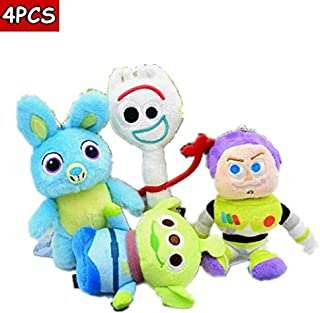 MANGMOC 2019 Movie 4 Forky Alien Plush Doll Toy 15Cm Rabbit Ty Vipkid We are Bear Buba Booba Kids Boy Must Haves The Favourite DVD Superhero Party Decorations Unboxing Toys