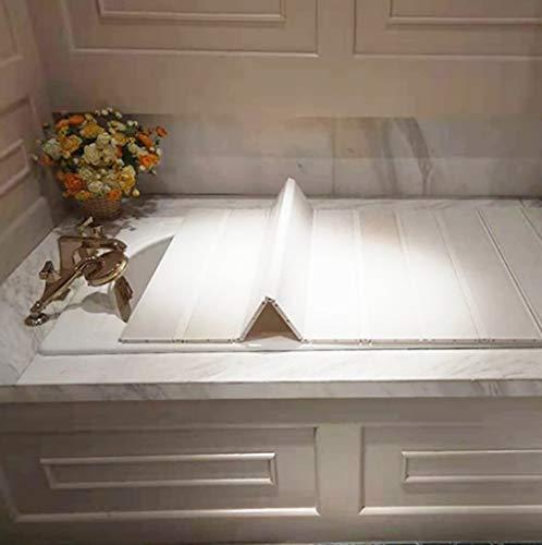 LwBathtub Tray PVC badkuip, anti-stof folding stof plank badkuip beschermafdekking PVC - kan mobiele telefoon poten bad supplies enzovoort - opslagruimte heeft geen ruimte nodig,