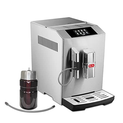 Modena Kaffeevollautomat mit Milchsystem,One-Touch mit Farbdisplay,Cappuccino und Espresso auf Knopfdruck,edelstahl, Limited Edition, inkl. Thermo-Milchbehälter