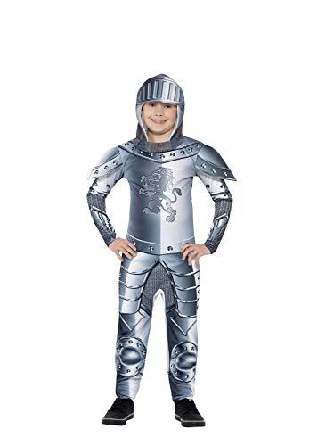 Smiffys Kinder Deluxe Ritter Kostüm, Jumpsuit und Kapuze, Größe: M, 43168 - 3