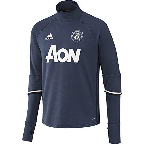 adidas MUFC TRG TOP - Sweatshirt - Linea Manchester United FC - Herren, Blau/Weiß, S