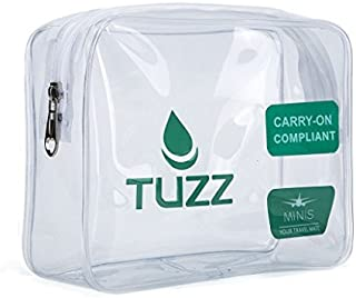 TUZZ TSA Approved Clear Travel Toiletry Bag Quart Bags With Zipper For Men Women, Airline 3-1-1 Carry On Compliant Bag