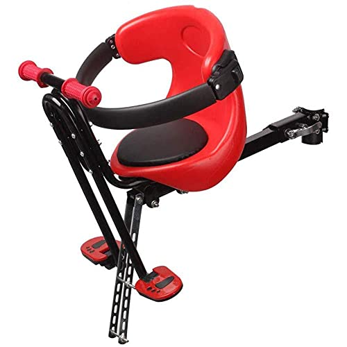 MOME Asiento de bicicleta para niños, con reposabrazos y cochecito, asiento delantero de bicicleta de protección del medio ambiente para niños, cojín ergonómico y cómodo, puede traer comodidad al bebé