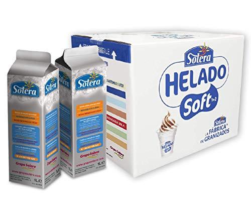 Helado Soft (1+2) - 6 Brik de 1 Litro concentrado = 18 Litros + 20% aumento = 21.6 L.de helado Soft terminado (Leche Merengada)..