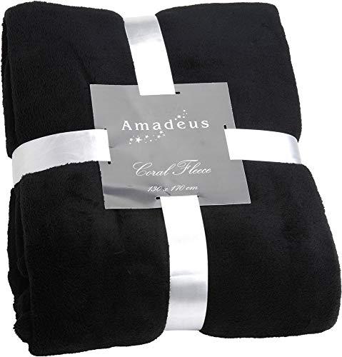 Plaid Vague en anthracite, 130x170 cm, Amadeus
